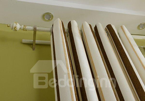 Rustic Chenille Linen Cloth Grommet Blackout Curtain Panel
