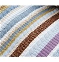 Modern Concise Stripe Pure Cotton Bed in a Bag Set