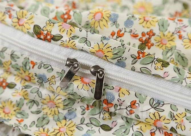 High Class Pretty Personalized Hand-Appliqued 4-Piece Cotton Duvet Cover Sets