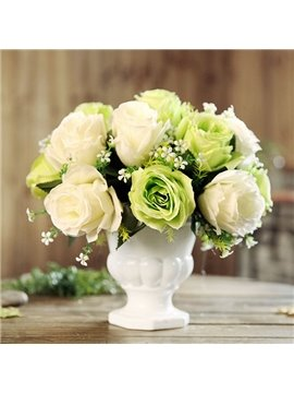 European Style Roses Desktop Decoration Artificial Flowers