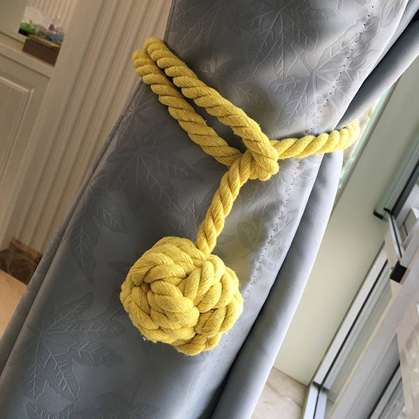 Pure Manual Weaving Cotton Rope Decorative Curtain Tiebacks