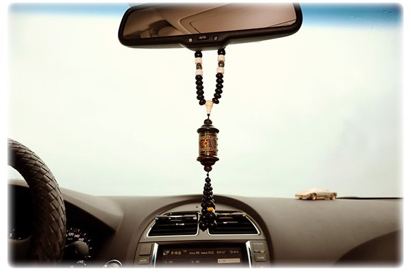 Buddhism Prayer Wheel Strap Creative Car Decor