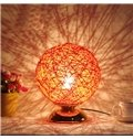 Creative Iron Round Fashion Table LED Night Light