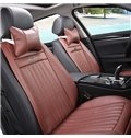 Summer Cooling Solid Color Single PU Leather Material Seat Mat