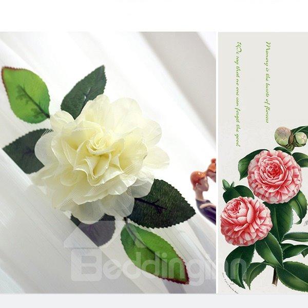 Korean Style Lovely White Flower Decorative Curtain Tiebacks
