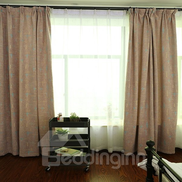 Concise Thicker Chenille Grommet Top Blackout Curtain Panel