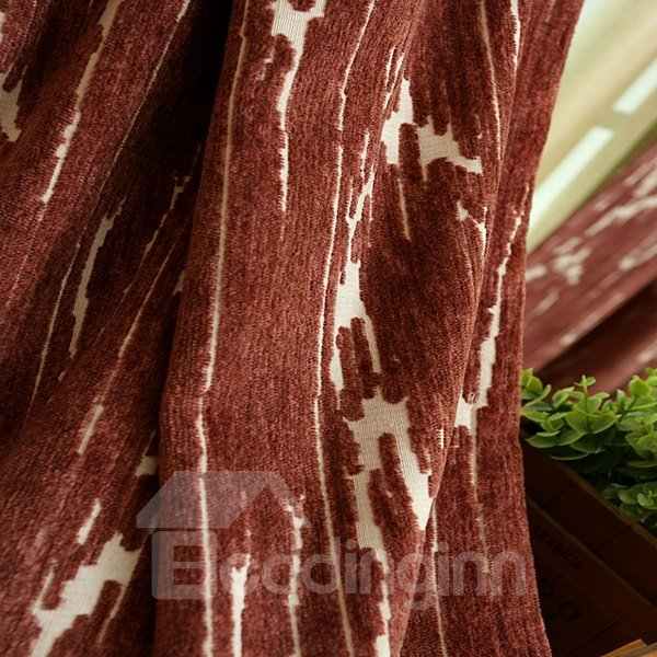 Wool Spinning Thicker Pure Colored Grommet Blackout Curtain Panel