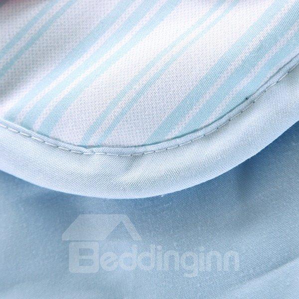 Creative Lovely Reindeer Print Blue Polyester Quilt