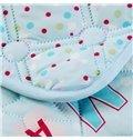 Popular Colorful Letter Design Blue Polyester Quilt