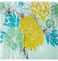 Fresh American Style Butterflies and Flowers Print Quilt