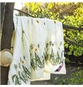 Glamorous Dandelions Reactive Printing Comfortable Polyester Quilt