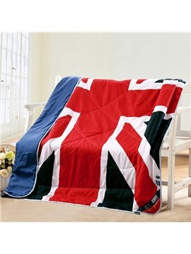 Union Jack Flag Design Polyester Summer Quilt