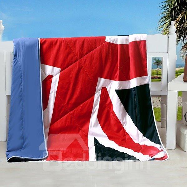 Union Jack Flag Design Polyester Summer Quilt