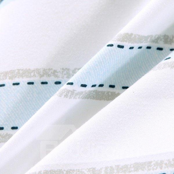 New Minimalist Stripe White Polyester Summer Quilt