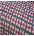 Classic Design Concise Plaid Polyester Summer Quilt