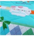 Super Sweet Colorful Rhombus Design Polyester Summer Quilt