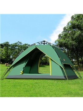 3-4 Person Outdoor Fiberglass Skeleton Double Layers Instant Camping and Hiking Tent