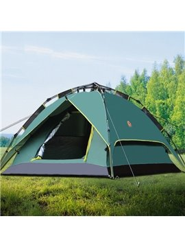 3-4 Person Outdoor Double Layers Waterproof Instant Camping and Hiking Tent