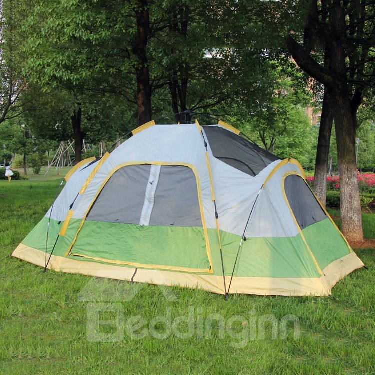 durable outdoor 2 bedroom waterproof instant camping and hiking tent