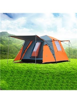3-4 Person Outdoor Waterproof Double Layers Four-Door Windproof Instant Camping and Hiking Tent