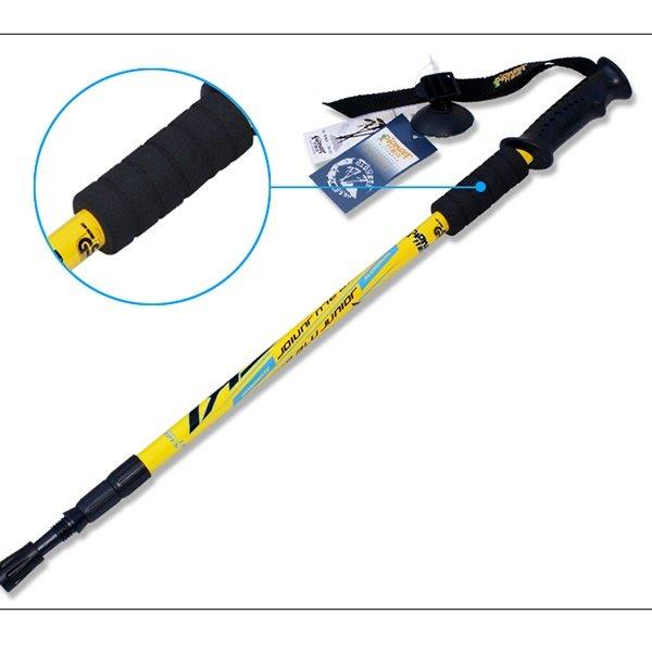 Resistant Triarticular Adjustable Hiking Trekking Straight Shank Alpenstock