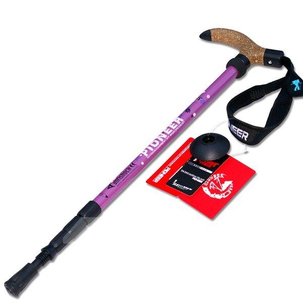Straight Shank Anti Shock Hiking Trekking Adjustable Alpenstock