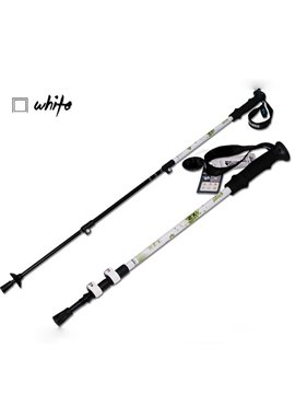 Straight Shank Triarticular Adjustable Hiking Sticks Poles Alpenstock