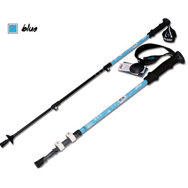 Straight Shank Triarticular Adjustable Hiking Sticks Poles Alpenstock
