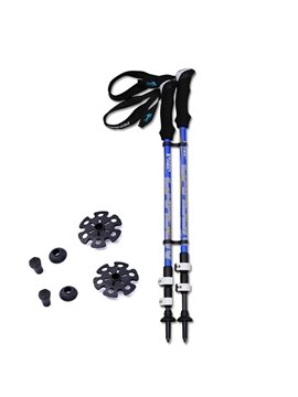 Lightweight Carbon Fiber Triarticular Bright Color Double Alpenstock