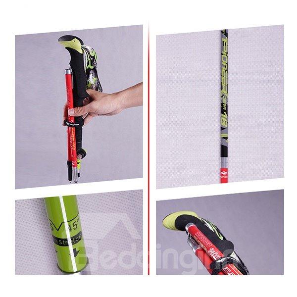 Adjustable Folding Travel Hiking Trekking Stick Pole with Lock Alpenstock