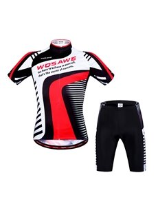 Men's Strip Pattern 3D Padded Shorts Outfit Cycling Clothing