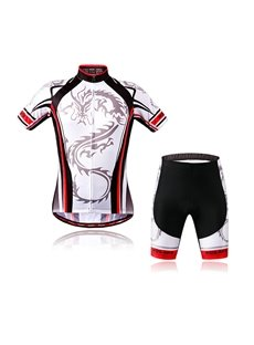 Dragon Pattern Shorts Set Mens Outdoor Sports Jersey 3D Padded Cycling Clothing