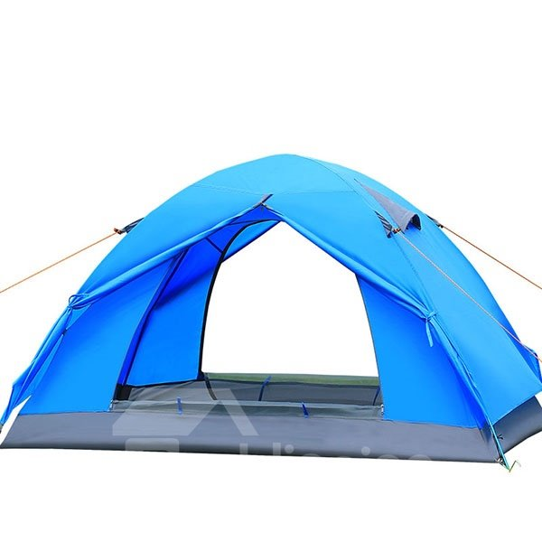 2-Person Outdoor Waterproof Double Layers Fiberglass Skeleton Camping and Hiking Tent