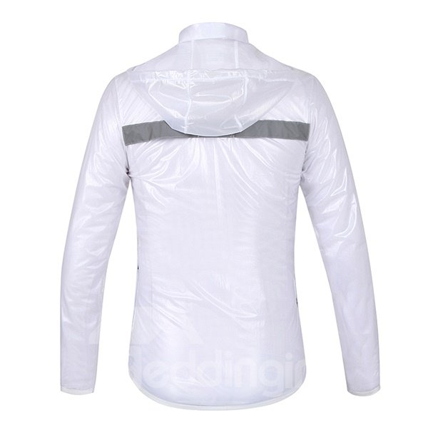 Waterproof Outdoor White Solid Color Long Sleeve Jersey Cycling Clothing