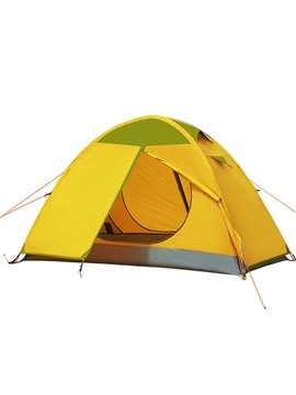 2-Person Outdoor Waterproof Tent with Double Layers Hydraulic Automatic Camping Tent