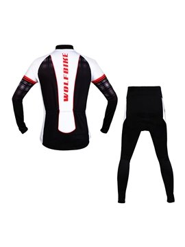 Men's 3D Padded Long Sleeve Black Grid Outdoor Sports Cycling Clothing