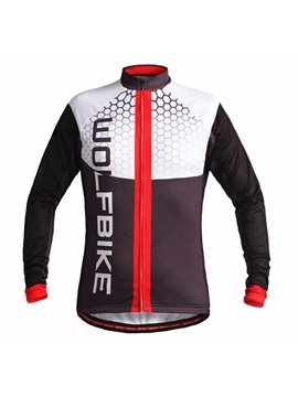 Men's Long Sleeve Jersey with Zipper Outdoor Outfit Cycling Clothing