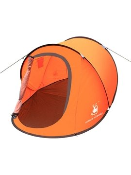 2-Person Outdoor Mono-layer Fiberglass Skeleton Waterproof Pop up Camping and Hiking Tent