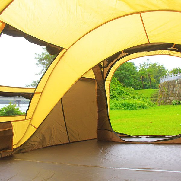 3-4 Person Contrast Color Fiberglass Outdoor Instant Pop-up Camping Tent