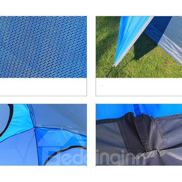 3-4 Person Double Layers Aero-metal Skeleton Waterproof Outdoor Camping Tent