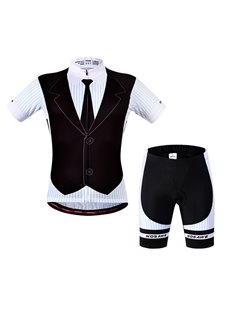 Male Outdoor Breathable Business-Suit-Like Quick-Dry Short Sleeve Cycling Suit