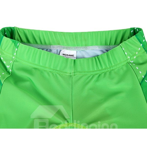 Bright Green Grid Pattern 3D Padded Shorts Set Outdoor Jersey Cycling Clothing