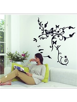 Elegant Simple Style Woman Pattern Wall Sticker
