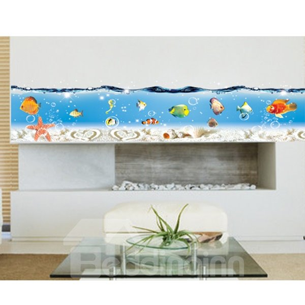 Cute Sea and Fish Pattern the Foot of Wall Sticker