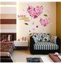 Romantic Heart Pattern Flower Wall Sticker