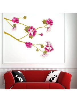 Simple Beautiful Flowers Pattern Wall Sticker