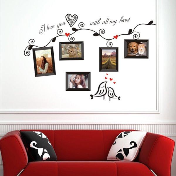 Creative Tree Pattern Photo Frame Wall Sticker