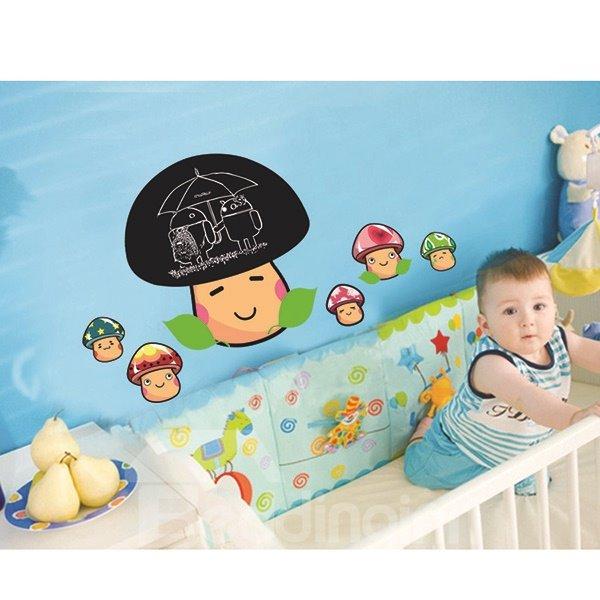 Very Cute Mushroom Pattern Children Room Wall Sticker