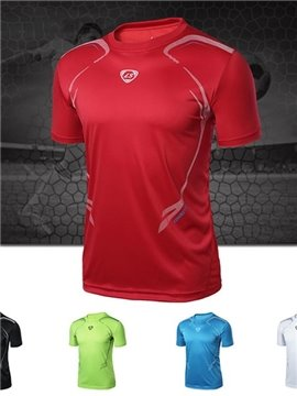 Polyester Simple Short Sleeve Cycling Jersey Men Quick Drying Shirt