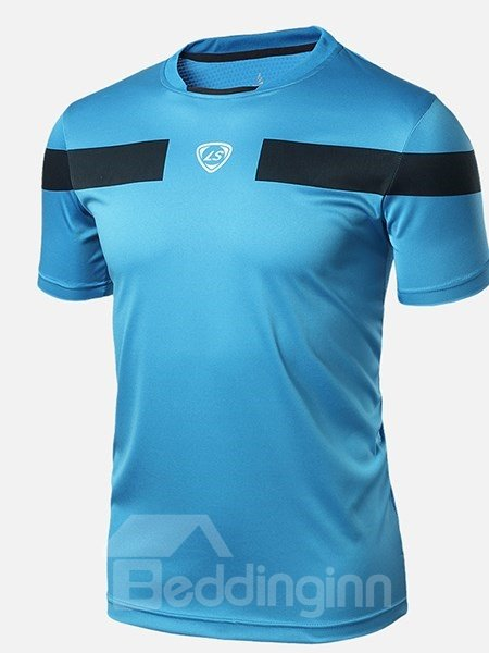 Bright Color with Black Strip Short Sleeve Cycling Jersey Quick Drying Shirt
